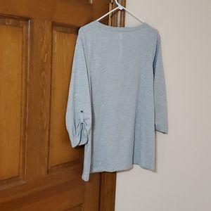 Sonoma Tops - Sonoma Large gray 3/4  sleeve top, nice